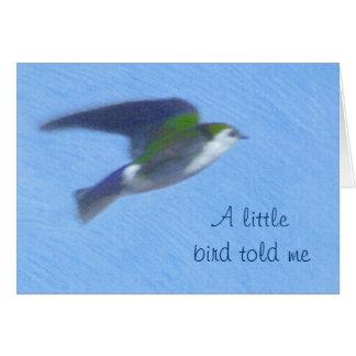 Fliegende Schwalben-Kunst-Gruß-Karte Grußkarte