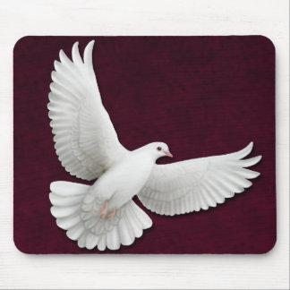 Fliegende Weiß-Taube kundengerechtes Mousepad