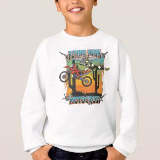 Fliegender hoher Motocross Sweatshirt