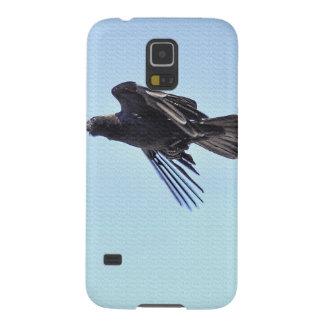 Fliegender Rabe Foto-dem Entwurf in des blauen Samsung S5 Hülle