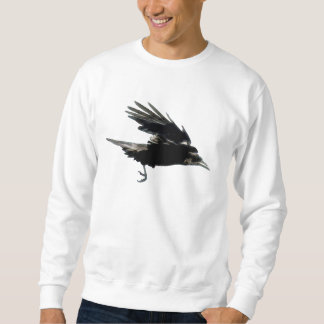 Fliegendes schwarzes KRÄHE Kunst-Mode-Shirt Sweatshirt