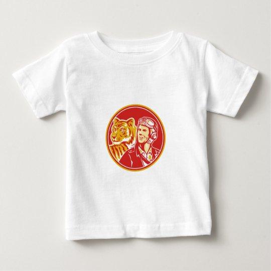 FLIEGER-Tiger-Kreis des Weltkrieg-2 VersuchsRetro Baby T-shirt
