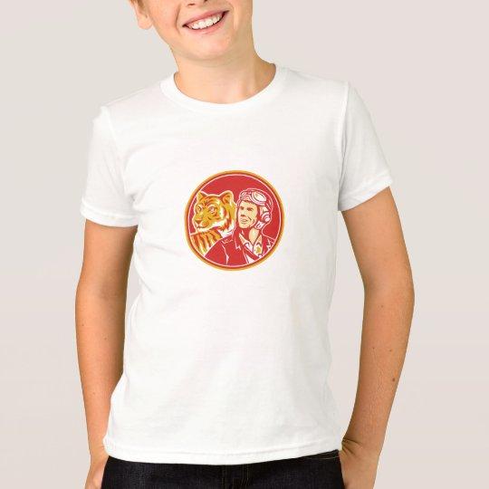 FLIEGER-Tiger-Kreis des Weltkrieg-2 VersuchsRetro T-Shirt