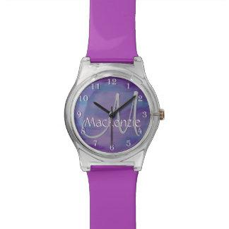 Flighty Bling | Namenschic-lila blauer rosa Armbanduhr