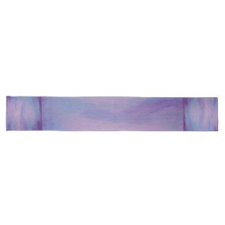 Flighty Tabelle| Chic-lila blaues rosa abstraktes Großer Tischläufer