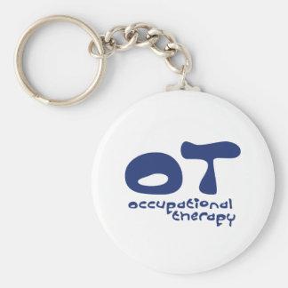 Flippige Beschäftigungstherapie Standard Runder Schlüsselanhänger