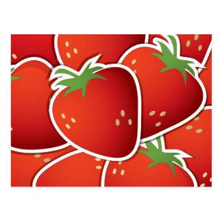 Flippige Erdbeeren Postkarte