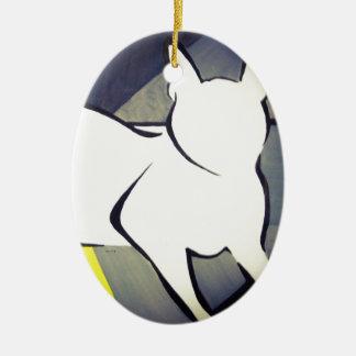 Flippige Katze Keramik Ornament