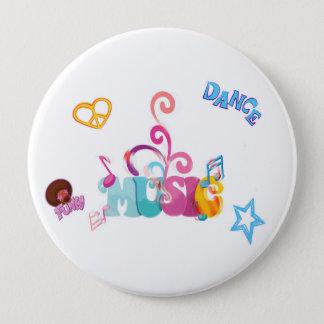 Flippige Musik Runder Button 10,2 Cm