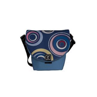 Flippige Retro Kreis-Bote-Tasche Kuriertasche