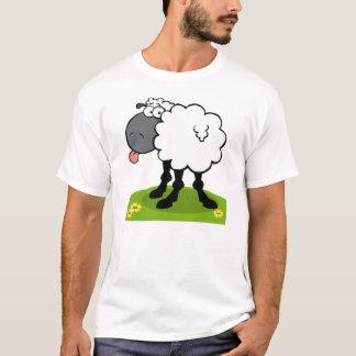 flippige Schafe, die heraus Zunge haften T-Shirt