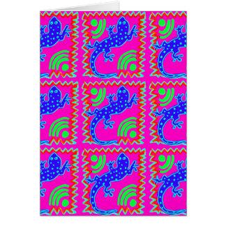 Flippige Tupfen-Eidechsen-Muster-Tier-Entwürfe Karte