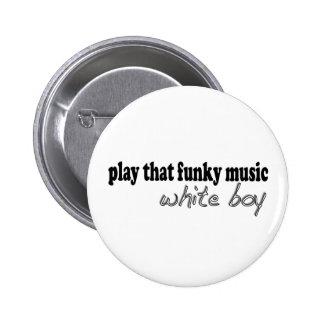 Flippiger Musik-Weiß-Junge Runder Button 5,7 Cm