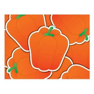 Flippiger orange Pfeffer Postkarte
