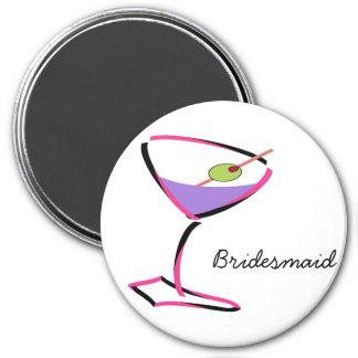 flippiger rosa Martini Kühlschrankmagnet