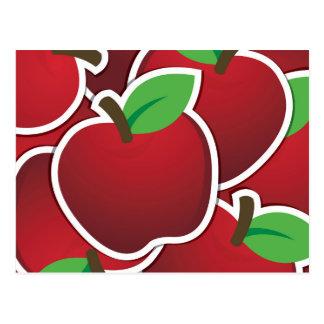 Flippiger roter Apfel Postkarte