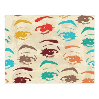 Flippiges Augen-Grafikdesign Postkarte
