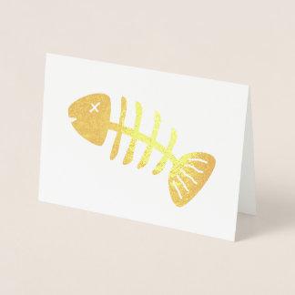 Flippiges Fisch-Skelett Folienkarte