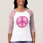 Flippiges Friedenszeichen - Rosa T Shirt