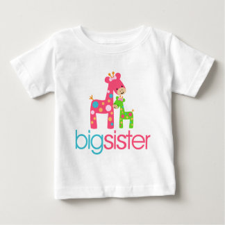Flippiges Giraffen-große Schwester-T-Shirt Baby T-shirt
