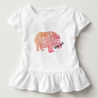 Flippiges Hippopotamus misterToddler Kleinkind T-shirt