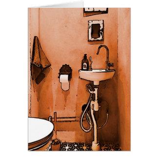 Flippiges pfirsichfarbenes Badezimmer Karte