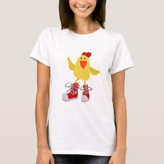Flippiges Tanzen-Gelb-Huhn T-Shirt