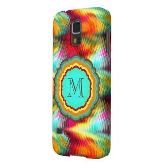 Flippiges, vibrierendes Regenbogen-Monogramm Hülle Fürs Galaxy S5