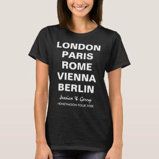 Flitterwochen in der kundenspezifischen T-Shirt