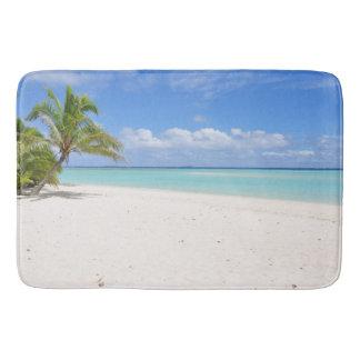 Flitterwochen-Strand-Sand-Palme-Paradies-Bad-Matte Badematte