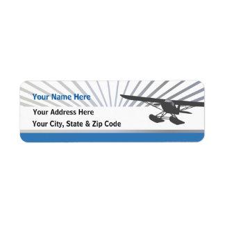 Floatplane Rückversand-Adressaufkleber