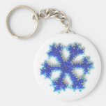 Flocon de neige bleu de perle porte-clef