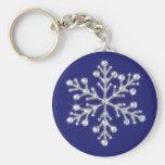Flocon de neige en cristal Keychain