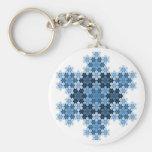 Flocons de neige en mosaïque de Koch Porte-clés