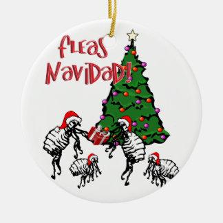 FLÖHE NAVIDAD - Weihnachtsflöhe und Weihnachtsbaum Keramik Ornament