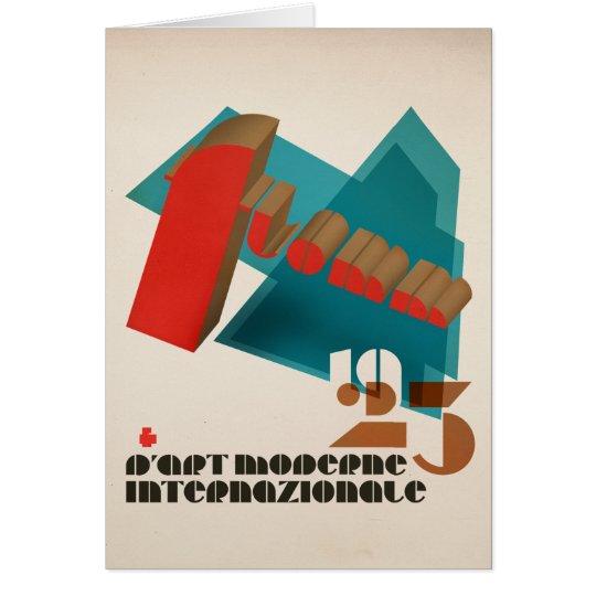 FLomm D'Art 1923 Moderne Internazionale Grußkarte