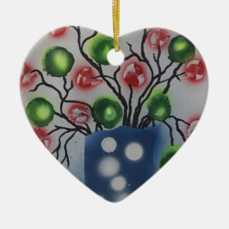 Flora Electronica Keramik Herz-Ornament