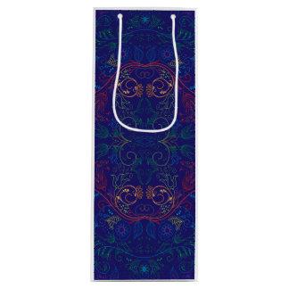 Floradore - Blau Geschenktüte Für Weinflaschen
