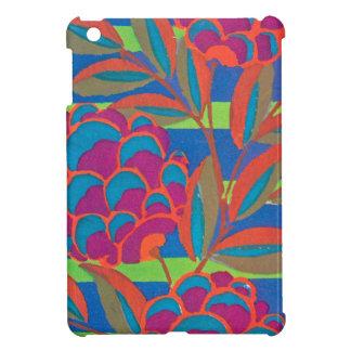Floral fuchsia orange coques pour iPad mini