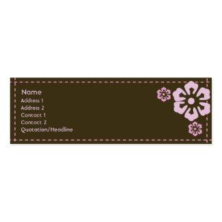 Floral - maigre carte de visite petit format