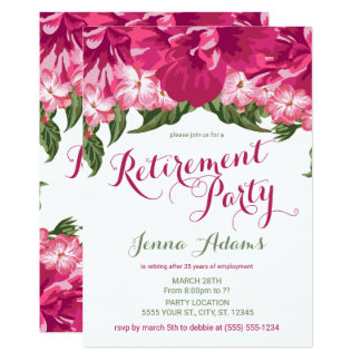 Floral tropical, invitations de partie de retraite