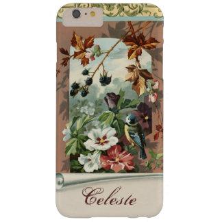 Floral vintage avec l'oiseau et les mûres coque iPhone 6 plus barely there