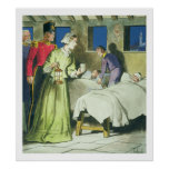 Florence Nightingale (1820-1910) des 'piaulements  Affiches
