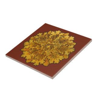 Florentinische Eichen-Blatt-Gruppen-Fliese Kleine Quadratische Fliese