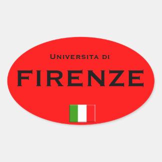 Florenz-HochschulEuro-ähnlicher ovaler Aufkleber