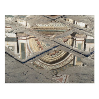 Florenz in den Pfützen Postkarte