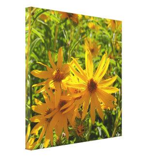 """Floresen MI hierbas """"Blumen in meinen Unkräutern """" Leinwanddruck"""