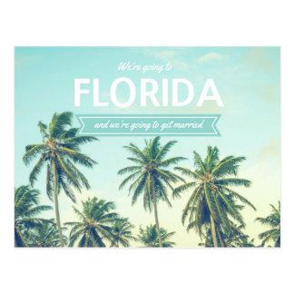 Florida, das tropischen Strand Wedding ist, rettet Postkarte