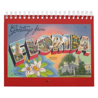 FLORIDA, ein Vintages Jahr Abreißkalender