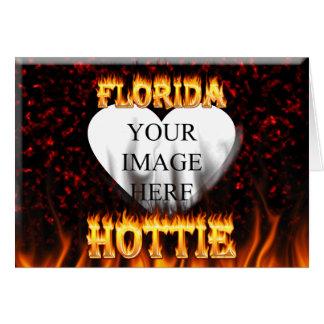 Florida hottie Feuer und Flammenentwurf Karte